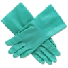 Honeywell Unlined Nitrile Gloves - 9 Size Number - Nitrile - Green - Puncture Resistant, Abrasion Resistant, Heat Resistant, Flexible, Sunlight Resistant, Oxidation Resistant, Ozone Resistant, Cut Res