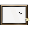 """The Board Dudes Unframed GlassX Dry Erase Board - 22"""" (1.8 ft) Width x 18"""" (1.5 ft) Height - White Surface - Black Wood Frame - Rectangle - 1 Each"""