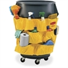 "Brute Utility Container Caddy Bag - 12 Pocket(s) - 20"" Width x 20.5"" Depth - Yellow - Nylon - 6 / Carton"