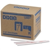 "Dixie 5-1/2"" Stir Straws - 5.50"" Length - Plastic - 10000 / Carton - White"