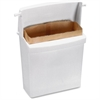 "RMC Sanitary Napkin Disposal Unit - Rectangular - Corrosion Resistance - 10.6"" Height x 8.9"" Width x 4.6"" Depth - Plastic - White"