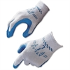 Best Atlas Fit General Purpose Gloves - X-Large Size - Natural Rubber, Polyester Lining, Cotton Lining - Blue, Gray - Comfortable, Lightweight, Knit Wrist, Durable, Textured, Elastic Wrist - For Gener