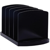"OIC 4 Compartments Standard Sorter - 4 Compartment(s) - 6.8"" Height x 9.4"" Width x 8"" Depth - Desktop - Black - Plastic - 1Each"