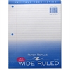 "Roaring Spring Wide Ruled Filler Paper - 150 Sheets - Printed 8"" x 10.50"" - White Cover - 150 / Pack"