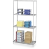 "Industrial Wire Shelving - 36"" x 18"" - 4 x Shelf(ves) - Gray"