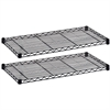 """Safco Industrial Wire Extra Shelve - 36"""" x 18"""" x 1.5"""" - 2 x Shelf(ves) - 1000 lb Load Capacity - Leveling Glide - Black - Powder Coated - Steel - Assembly Required"""