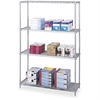 "Industrial Wire Shelving - 48"" x 18"" x 72"" - 4 x Shelf(ves) - Gray"