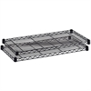 "Safco Industrial Wire Extra Shelf - 48"" x 24"" x 1.5"" - 2 x Shelf(ves) - 2500 lb Load Capacity - Adjustable Glide, Durable - Black - Powder Coated - Steel - Assembly Required"