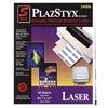 """Simon PlazStyx Laser Label - 8.50"""" Width x 11"""" Length - 1 / Sheet - Rectangle - Laser - White - Plastic - 50 / Pack"""