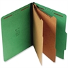 "SJ Paper Standard Classification Folder - Letter - 8 1/2"" x 11"" Sheet Size - 6 Fastener(s) - 2"" Fastener Capacity for Folder - 2 Divider(s) - 25 pt. Folder Thickness - Pressboard - Emerald Green - Rec"