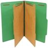 "SJ Paper Standard Classification Folder - Legal - 8 1/2"" x 14"" Sheet Size - 6 Fastener(s) - 2"" Fastener Capacity for Folder - 2 Divider(s) - 25 pt. Folder Thickness - Pressboard - Emerald Green - Recy"