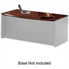"Mayline Corsica Veneer Series Bowfront Desk Top - 72"" x 36"" x 29.5"" - Beveled Edge - Material: Veneer, Wood - Finish: Cherry, Sierra Cherry"