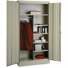 "Tennsco Combination Wardrobe/Storage Cabinet - 36"" x 18"" x 72"" - 2 x Door(s) - Locking Mechanism, Welded, Heavy Duty, Reinforced - Putty - Recycled"