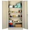"Full-Height Standard Storage Cabinet - 36"" x 18"" x 72"" - 2 x Door(s) - Security Lock, Welded, Reinforced, Hinged Door - Putty - Chrome - Recycled"