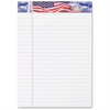 "TOPS American Pride Writing Tablet - 50 Sheets - Printed - Strip - 16 lb Basis Weight - Jr.Legal 5"" x 8"" - Canary Paper - 3 / Pack"
