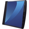 "GBC® Smart-View® Presentation Book - Letter - 8 1/2"" x 11"" Sheet Size - Ring Fastener - 12 Back Pocket(s) - Polypropylene, Poly - Black - 1 / Each"