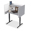 """Balt Study Carrel - Rectangle Top - 24"""" Table Top Length x 37"""" Table Top Width - Assembly Required - Gray Interior - Laminated, Powder Coated Frame - Steel"""