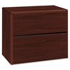 "HON 10700 Series Two Drawer Lateral File - 36"" x 20"" x 29.6"" - 2 - Waterfall Edge - Material: Wood - Finish: Laminate, Mahogany"