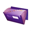 "Poly Expanding Files - 9 1/4"" x 13"" Sheet Size - 7/8"" Expansion - 12 Pocket(s) - 12 Divider(s) - Polypropylene - Purple - 1 Each"