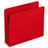 "Smead Poly File Pockets - Letter - 8 1/2"" x 11"" Sheet Size - 3 1/2"" Expansion - Polypropylene - Red - 4 / Box"