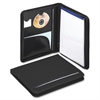 "Smead Poly Nylon Covered Zippered Pad Folios - Letter - 8 1/2"" x 11"" Sheet Size - Internal, Exterior Pocket(s) - Nylon - Black - 1 Each"