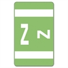 "Smead AlphaZ® ACCS and ACC Color-Coded Alphabetic Labels - 1"" Width x 1.62"" Length - 10 / Sheet - Light Green - 100 / Pack"