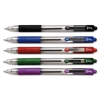 Zebra Pen Z-Grip Retractable Ballpoint Pen - Medium Point Type - 1 mm Point Size - Black, Green, Red, Purple, Cyan - Assorted Barrel - 5 / Set