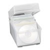 "Compucessory CD/DVD Storage Box - 5.5"" Height x 5.8"" Width x 7.5"" Depth - Clear - Plastic, Polypropylene"