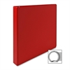 "Round Ring Binder - 1"" Binder Capacity - Letter - 8 1/2"" x 11"" Sheet Size - 3 x Round Ring Fastener(s) - 2 Inside Front & Back Pocket(s) - Vinyl - Red - 1 Each"