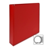 "Sparco Round Ring Binder - 1 1/2"" Binder Capacity - Letter - 8 1/2"" x 11"" Sheet Size - 3 x Round Ring Fastener(s) - 2 Inside Front & Back Pocket(s) - Vinyl - Red - 1 Each"