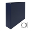 "Sparco Round Ring Binder - 3"" Binder Capacity - Letter - 8 1/2"" x 11"" Sheet Size - 3 x Round Ring Fastener(s) - 2 Inside Front & Back Pocket(s) - Vinyl - Dark Blue - 1 Each"