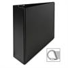 "Sparco Vinyl D-Ring Binders - 3"" Binder Capacity - Letter - 8 1/2"" x 11"" Sheet Size - 3 x D-Ring Fastener(s) - Inside Front Pocket(s) - Cardboard, Vinyl - Black - 1 Each"