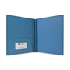 "Two Pocket Report Covers With Fasteners - Letter - 8 1/2"" x 11"" Sheet Size - 100 Sheet Capacity - 3 Fastener(s) - 1/2"" Fastener Capacity - 2 Internal Pocket(s) - Embossed Paper - Light Blue - 2"