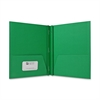 "Sparco 2-Pocket Folders w/ Fasteners - Letter - 8 1/2"" x 11"" Sheet Size - 100 Sheet Capacity - 3 Fastener(s) - 1/2"" Fastener Capacity - 2 Internal Pocket(s) - Embossed Paper - Green - 25 / Box"