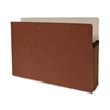 "Accordion Expanding File Pocket - Legal - 8 1/2"" x 14"" Sheet Size - 5 1/4"" Expansion - Redrope - Redrope - Recycled - 10 / Box"