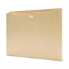 "Flat File Pocket - 1"" Folder Capacity - Letter - 8 1/2"" x 11"" Sheet Size - 1"" Expansion - 11 pt. Folder Thickness - Manila - Recycled - 50 / Box"