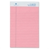 "Sparco Colored Jr. Legal Ruled Writing Pads - 50 Sheets - Glue - 0.28"" Front Line(s) Space - 16 lb Basis Weight - Jr.Legal 5"" x 8"" - Rose Paper - Heavyweight, Micro Perforated, Bond Paper, Easy Tear,"