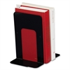 "Sparco Book Supports with Poly Base - 9"" Height x 6"" Width x 8.5"" Depth - Desktop - Black - Steel - 2 / Pair"