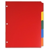 "Sparco Non-Insertable Poly Index - 5 - Blank - 5 Tab(s)/Set - 8.50"" Divider Width x 11"" Divider Length - Letter - 3 Hole Punched - Polyethylene Divider - Multicolor - 5 / Set"