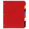 "Non-Insertable Poly Index - 8 Blank Tab(s) - 8 Tab(s)/Set - 8.50"" Divider Width x 11"" Divider Length - Letter - 3 Hole Punched - Polyethylene Divider - Multicolor Tab(s) - 8 / Set"