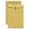 "Sparco String & Button Close Inter-Dept.Envelopes - Interoffice - 10"" Width x 13"" Length - 32 lb - String/Button - Kraft - 100 / Box - Kraft"