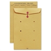 "Sparco String & Button Close Inter-Dept.Envelopes - Interoffice - 10"" Width x 15"" Length - 32 lb - String/Button - Kraft - 100 / Box - Kraft"