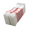 Sparco $500 Bill Strap - 1000 Wrap(s) - Kraft - Red