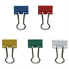 "Sparco Assorted Color Binder Clips - Mini - 0.6"" Width - 0.25"" Size Capacity - 100 / Pack - Assorted - Steel"