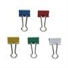 "Sparco Assorted Color Binder Clips - Small - 0.8"" Width - 0.37"" Size Capacity - 36 / Pack - Red, Blue, White, Green, Mustard - Steel"