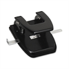 "Heavy-duty Hole Punch - 2 Punch Head(s) - 30 Sheet Capacity - 1/4"" Punch Size - Black"