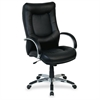 "Stonebridge Leather Executive High-Back Chair - Leather Black Seat - 5-star Base - Black - 20.90"" Seat Width x 22.50"" Seat Depth"