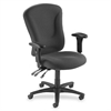 Lorell Accord Managerial Mid-Back Task Chair - Polyester Gray Seat - Black Frame - Gray