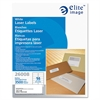 "Elite Image White Mailing/Address Laser Labels - Permanent Adhesive - 1.33"" Width x 4"" Length - Rectangle - Laser - White - 3500 / Pack"