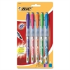 BIC Z4+ Bold Rollerball Pen - 0.7 mm Point Size - Assorted - Assorted Barrel - 5 / Set